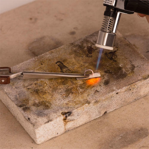 soldering silver with butane gas torch