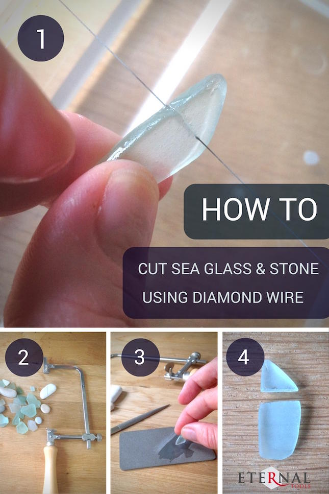 How To Easily Cut & Shape Sea Glass and Stones Using Diamond Wire