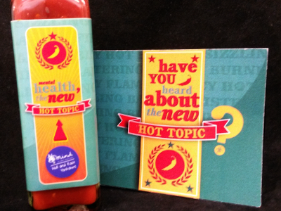 HEYMind chilli sauce and postcard