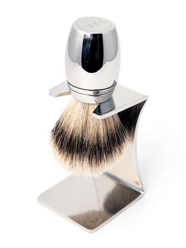 stainless steel shaving brush drip stand