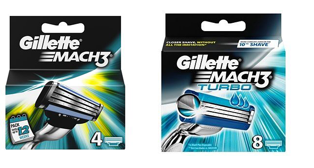 Gillette Mach3 and Mach3 Turbo