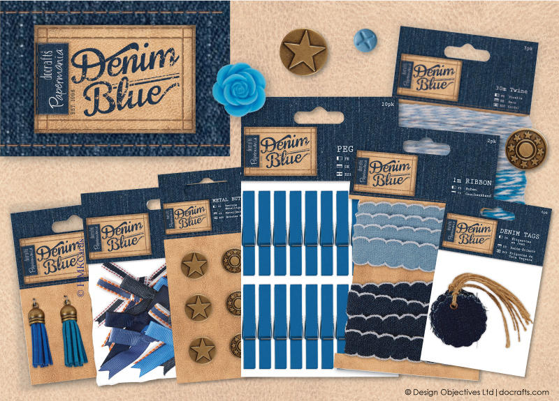 Denim Blue by Papermania