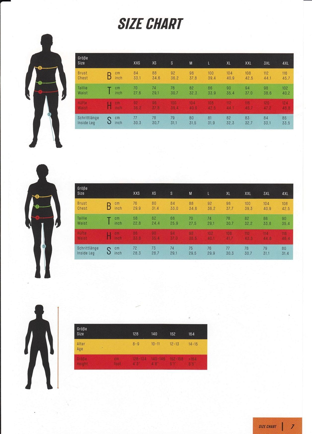 Ktm Size Chart